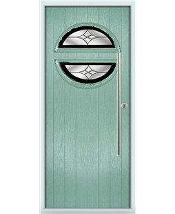 The Xenia Composite Door in Green (Chartwell) with Black Crystal Harmony