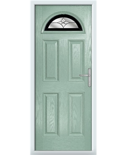 The Derby Composite Door in Green (Chartwell) with Black Crystal Harmony