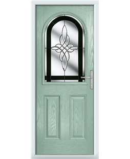 The Edinburgh Composite Door in Green (Chartwell) with Black Crystal Harmony
