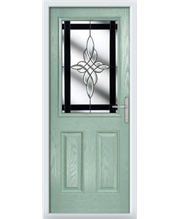 The Farnborough Composite Door in Green (Chartwell) with Black Crystal Harmony