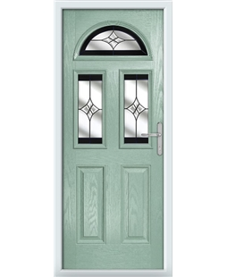 The Glasgow Composite Door in Green (Chartwell) with Black Crystal Harmony
