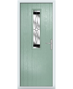 The Sheffield Composite Door in Green (Chartwell) with Black Crystal Harmony
