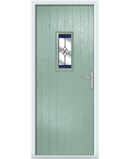 The Taunton Composite Door in Green (Chartwell) with Blue Crystal Harmony