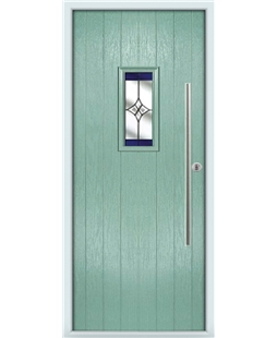 The Zetland Composite Door in Green (Chartwell) with Blue Crystal Harmony