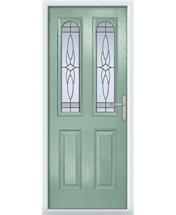 The Aberdeen Composite Door in Green (Chartwell) with  Crystal Harmony Frost