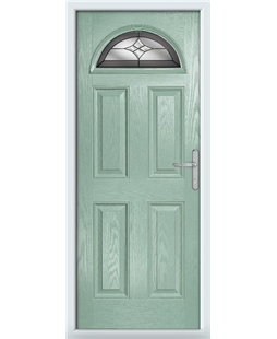 The Derby Composite Door in Green (Chartwell) with Crystal Harmony Frost