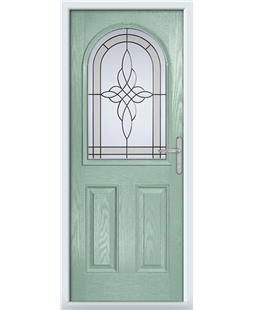 The Edinburgh Composite Door in Green (Chartwell) with Crystal Harmony Frost