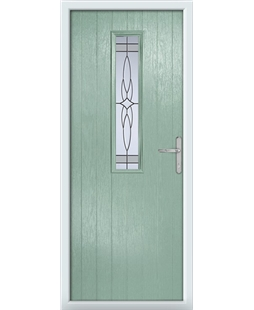 The Sheffield Composite Door in Green (Chartwell) with Crystal Harmony Frost