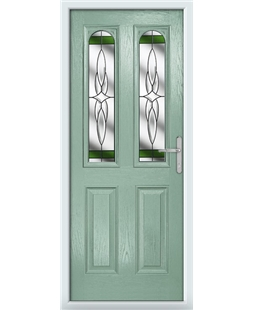The Aberdeen Composite Door in Green (Chartwell) with Green Crystal Harmony
