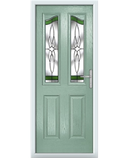 The Birmingham Composite Door in Green (Chartwell) with Green Crystal Harmony