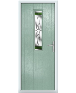 The Sheffield Composite Door in Green (Chartwell) with Green Crystal Harmony