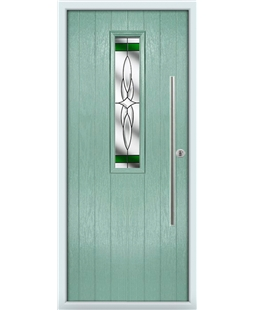 The York Composite Door in Green (Chartwell) with Green Crystal Harmony