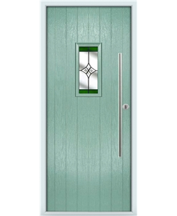 The Zetland Composite Door in Green (Chartwell) with Green Crystal Harmony