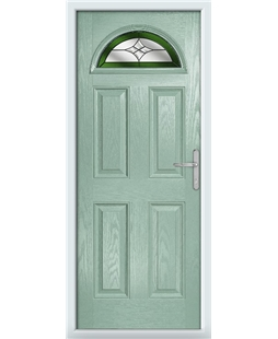 The Derby Composite Door in Green (Chartwell) with Green Crystal Harmony
