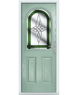 The Edinburgh Composite Door in Green (Chartwell) with Green Crystal Harmony