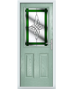The Farnborough Composite Door in Green (Chartwell) with Green Crystal Harmony