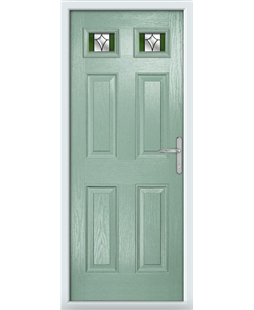 The Ipswich Composite Door in Green (Chartwell) with Green Crystal Harmony