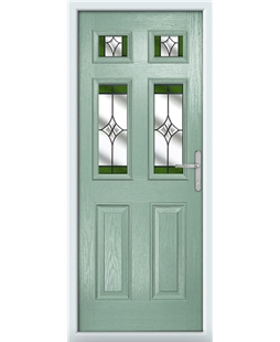 The Oxford Composite Door in Green (Chartwell) with Green Crystal Harmony