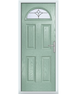 The Derby Composite Door in Green (Chartwell) with Crystal Tulip Arch