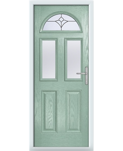 The Glasgow Composite Door in Green (Chartwell) with Crystal Tulip Arch