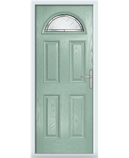 The Derby Composite Door in Green (Chartwell) with Diamond Cut