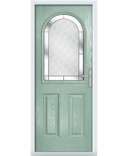 The Edinburgh Composite Door in Green (Chartwell) with Diamond Cut