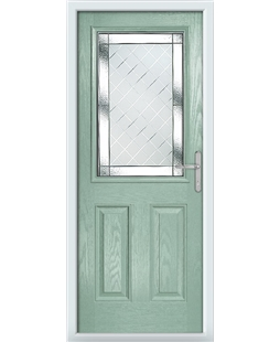 The Farnborough Composite Door in Green (Chartwell) with Diamond Cut