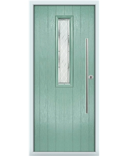 The York Composite Door in Green (Chartwell) with Diamond Cut