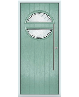 The Xenia Composite Door in Green (Chartwell) with Diamond Cut