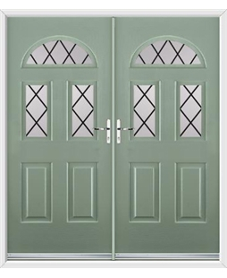 Tennessee French Rockdoor in Chartwell Green with Diamond Lead