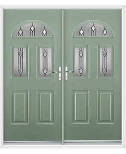 Tennessee French Rockdoor in Chartwell Green with Dorado Glazing