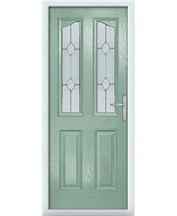 The Birmingham Composite Door in Green (Chartwell) with Classic Glazing