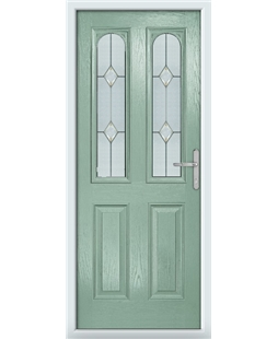 The Aberdeen Composite Door in Green (Chartwell) with Classic Glazing