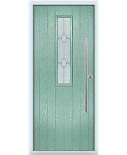 The York Composite Door in Green (Chartwell) with Classic Glazing