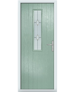 The Sheffield Composite Door in Green (Chartwell) with Classic Glazing