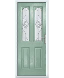 The Aberdeen Composite Door in Green (Chartwell) with Eclipse Glazing