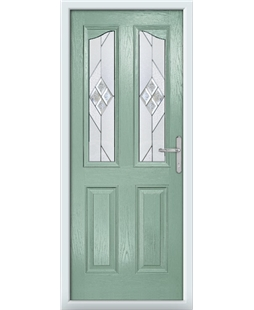The Birmingham Composite Door in Green (Chartwell) with Eclipse Glazing