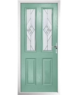 The Cardiff Composite Door in Green (Chartwell) with Eclipse Glazing