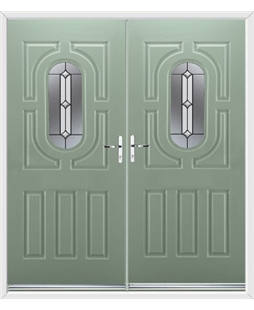 Arcacia French Rockdoor in Chartwell Green Ellipse