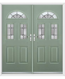 Tennessee French Rockdoor in Chartwell Green with Ellipse
