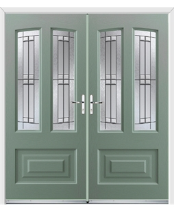Illinois French Rockdoor in Chartwell Green with Empire