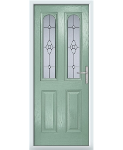 The Aberdeen Composite Door in Green (Chartwell) with Finesse Glazing