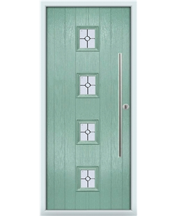 The Leicester Composite Door in Green (Chartwell) with Finesse Glazing