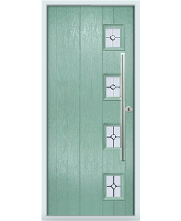 The Norwich Composite Door in Green (Chartwell) with Finesse Glazing