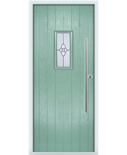 The Zetland Composite Door in Green (Chartwell) with Finesse Glazing