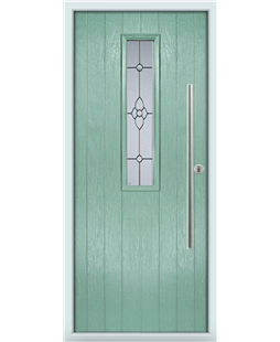 The York Composite Door in Green (Chartwell) with Finesse Glazing