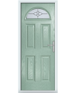The Derby Composite Door in Green (Chartwell) with Finesse Glazing