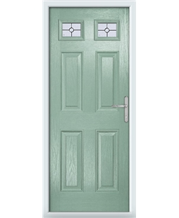 The Ipswich Composite Door in Green (Chartwell) with Finesse Glazing