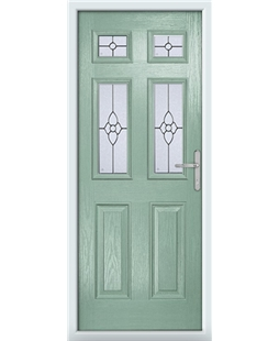 The Oxford Composite Door in Green (Chartwell) with Finesse Glazing