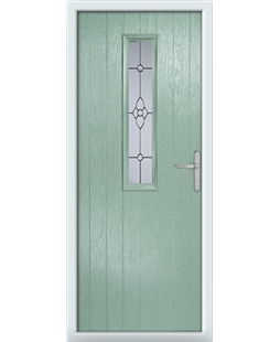 The Sheffield Composite Door in Green (Chartwell) with Finesse Glazing